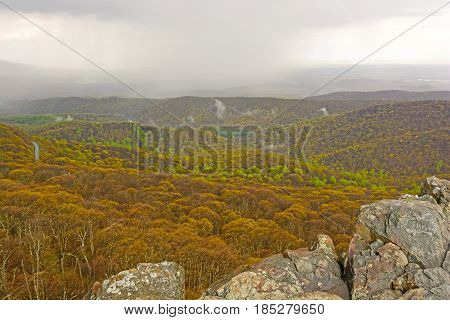 Spring Storm over the Blue Ridge Mountains in the Blue Ridge Parkway in Virginia