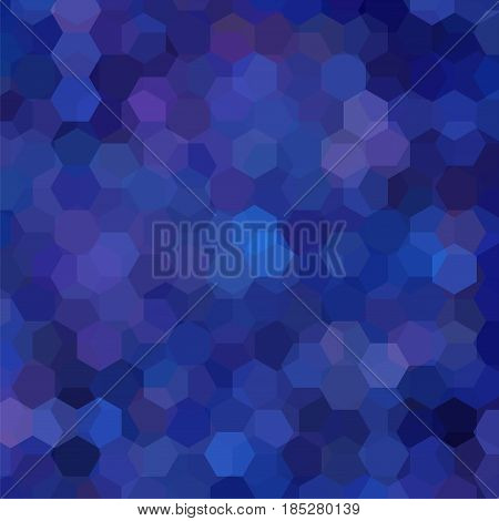 Geometric Pattern, Vector Background With Hexagons In Blue Tones. Illustration Pattern