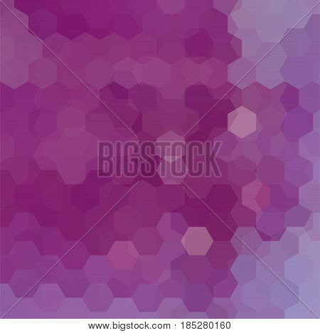 Abstract Hexagons Vector Background. Purple Geometric Vector Illustration. Creative Design Template.