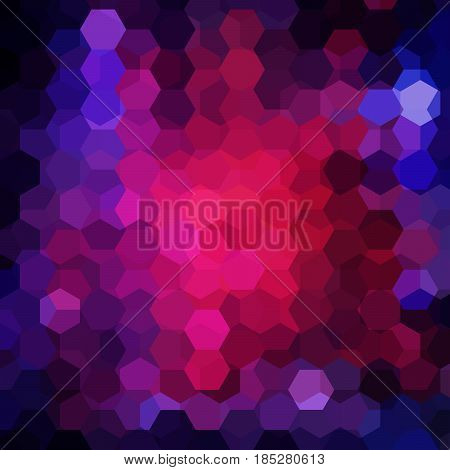 Background Of Dark Blue, Pink, Purple Geometric Shapes. Mosaic Pattern. Vector Eps 10. Vector Illust
