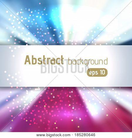 Beautiful Rays Of Light. Shiny Eps 10 Background. Radial Radiant Effect. Vector Illustration. Pink,