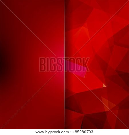 Abstract Mosaic Background. Blur Background. Red Triangle Geometric Background. Design Elements. Vec