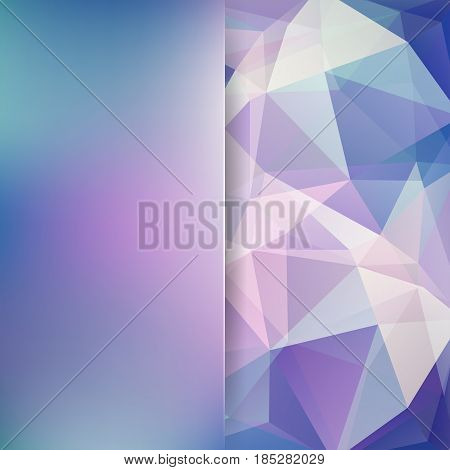 Abstract Polygonal Vector Background. Geometric Vector Illustration. Creative Design Template. Abstr