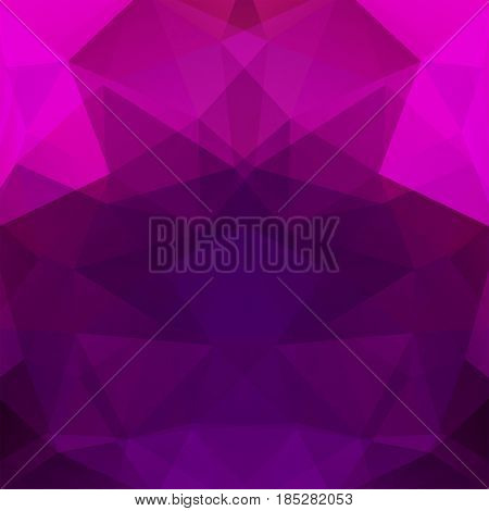 Geometric Pattern, Polygon Triangles Vector Background In Pink And Purple Tones. Illustration Patter
