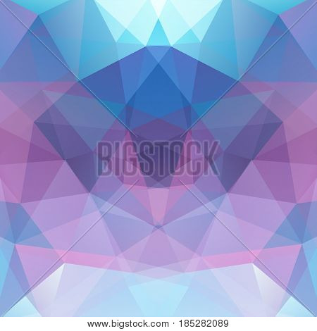 Geometric Pattern, Polygon Triangles Vector Background In Pink, Purple, Blue, White Tones. Illustrat