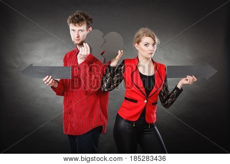 Unhappy Couple Thinking About Divorce.