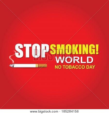 Stop Smoking. World No Tobacco Day. illustrator Eps 10
