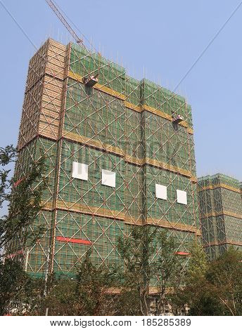 Residential apartment construction site in Hangzhou China