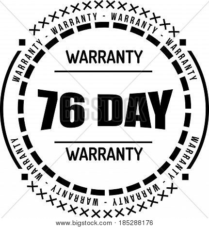 76 day warranty vintage grunge rubber stamp guarantee background