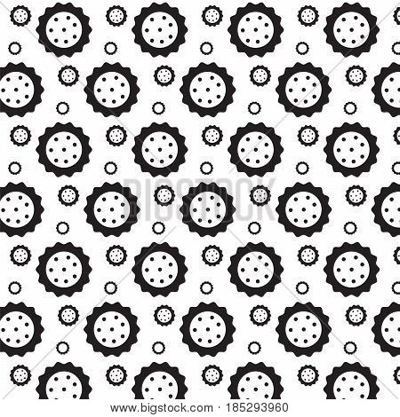 black curly circle with dot inside pattern background vector illustration image