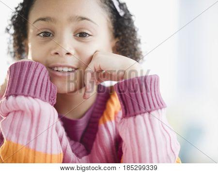 Smiling African American girl