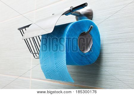 toilet paper holder in the modern bathroom