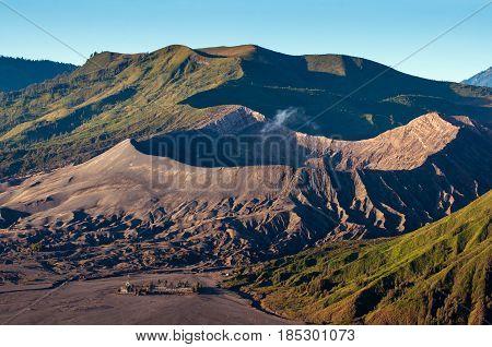 Mount Bromo Volcanoes In Bromo Tengger Semeru National Park, East Java, Indonesia