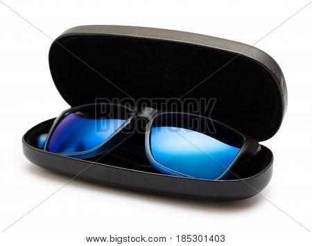 Open Protective Case With Sunglasses