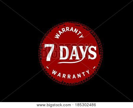 7 days warranty icon vintage rubber stamp guarantee bakcground