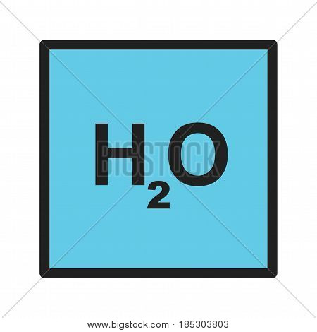H2O, water, molecule icon vector image. Can also be used for chemistry. Suitable for mobile apps, web apps and print media.