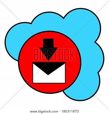 Flat Color Cloud Inbox Messages Icon