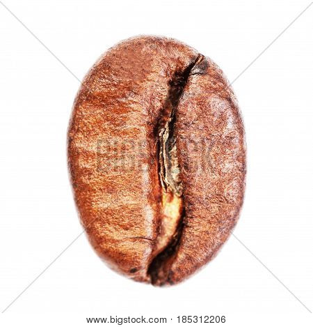 Arabica Coffee bean macro Isolated on white background. High Resolution image