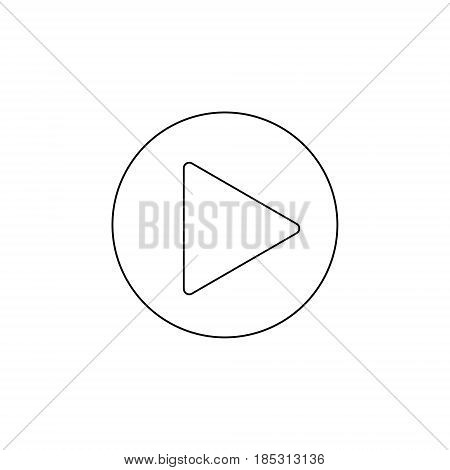 play button icon vector flat play icon outline in a circle