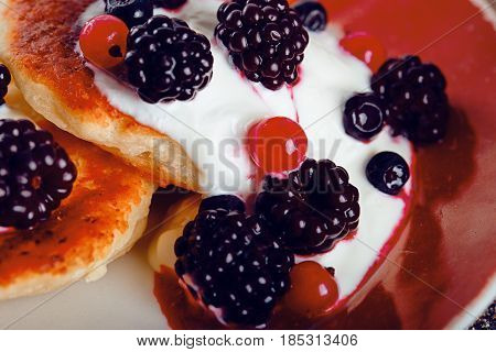 delicious cheesecake with berry fruit. delicious dessert