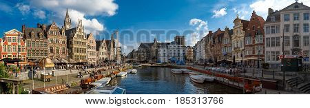 Panoramic View Boat Tours In Ghent Canal