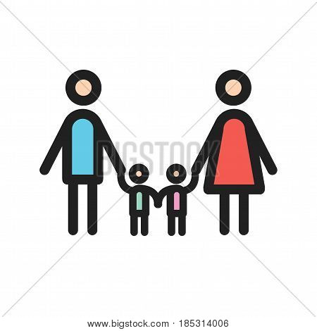 Family, community, happy icon vector image. Can also be used for community. Suitable for mobile apps, web apps and print media.