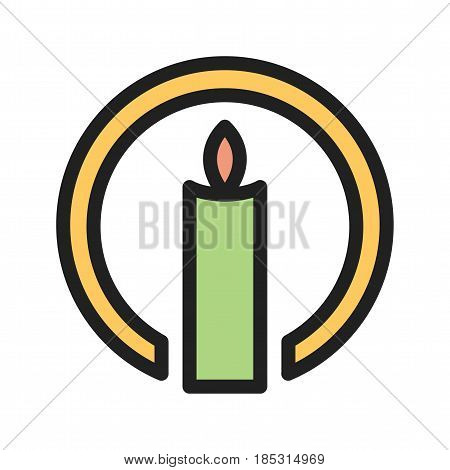 Faith, word, spiritual icon vector image. Can also be used for community. Suitable for mobile apps, web apps and print media.