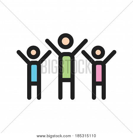 Community, collaboration, people icon vector image. Can also be used for community. Suitable for mobile apps, web apps and print media.