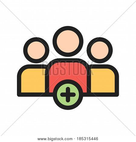 Acquisition, merge, business icon vector image. Can also be used for community. Suitable for web apps, mobile apps and print media.