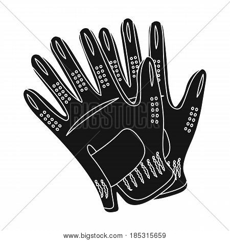 Golf gloves.Golf club single icon in black style vector symbol stock illustration .