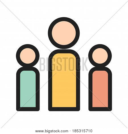 Leadership, community, people icon vector image. Can also be used for community. Suitable for web apps, mobile apps and print media.