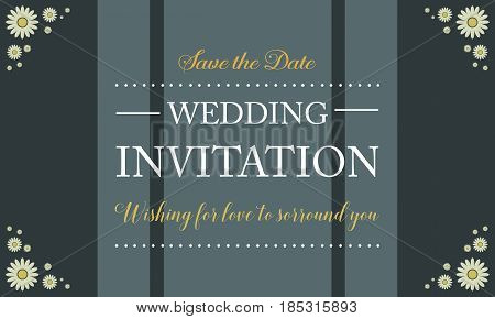 Collection stock wedding invitation card vector illustration