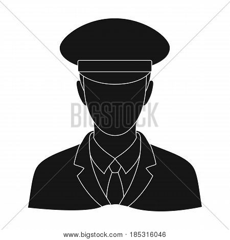 Postman.Mail and postman single icon in black style vector symbol stock illustration .