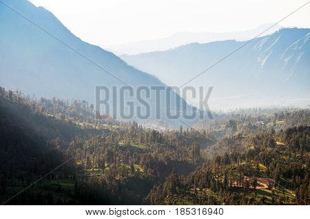 Village In Mount Bromo In Bromo Tengger Semeru National Park, East Java, Indonesia.