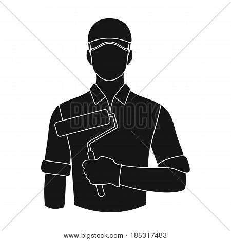 Painter.Professions single icon in black style vector symbol stock illustration .