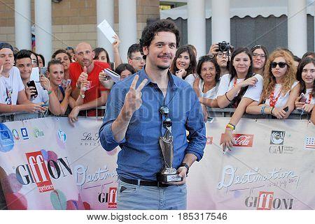 Giffoni Valle Piana Sa Italy - July 18 2016 : Gabriele Mainetti at Giffoni Film Festival 2016 - on July 18 2016 in Giffoni Valle Piana Italy