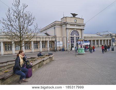Poznan, Poland - April 29, 2017: Western Train Station On 29 Apr