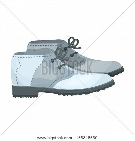 Golfer shoes.Golf club single icon in cartoon style vector symbol stock illustration .