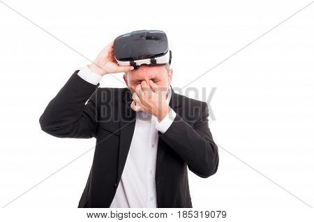 Young Male Looking Exhausted After 3D Experience