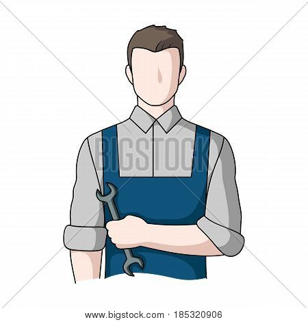 Fitter mechanic.Professions single icon in cartoon style vector symbol stock illustration .
