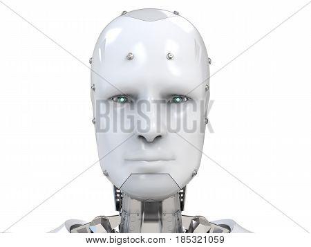 Cyborg Face Or Robot Face