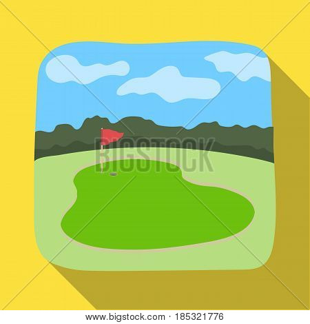 Golf course.Golf club single icon in flat style vector symbol stock illustration .