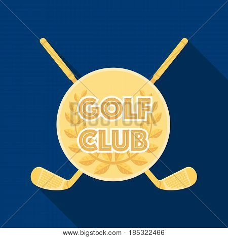 Emblem of the golf club.Golf club single icon in flat style vector symbol stock illustration .