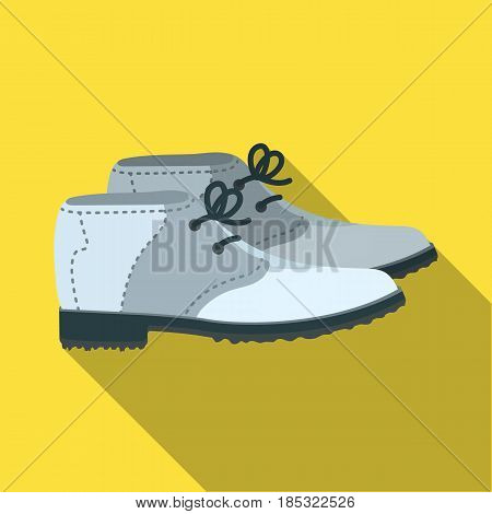 Golfer shoes.Golf club single icon in flat style vector symbol stock illustration .