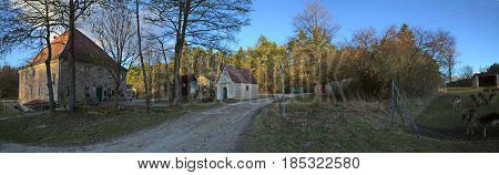 Hilpoltstein, Germany - Feb 24 2017 : Fuchsmuehle, A Homestead Near The Bavarian City Of Hilpoltstei