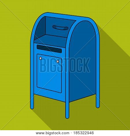 Mailbox.Mail and postman single icon in flat style vector symbol stock illustration .