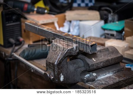 Metal Workpiece In The Vise