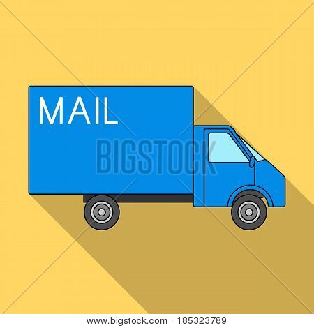 Mail machine.Mail and postman single icon in flat style vector symbol stock illustration .