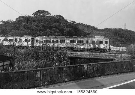 Old Train In Ruifang, Taiwan