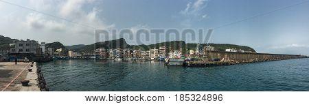 Landscape Of Keelung Port In Taiwan